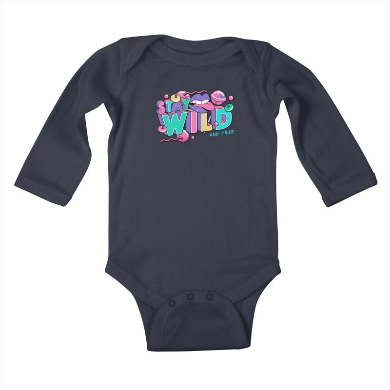 Stay Wild Kids Baby Longsleeve Bodysuit by Mountain View Co
