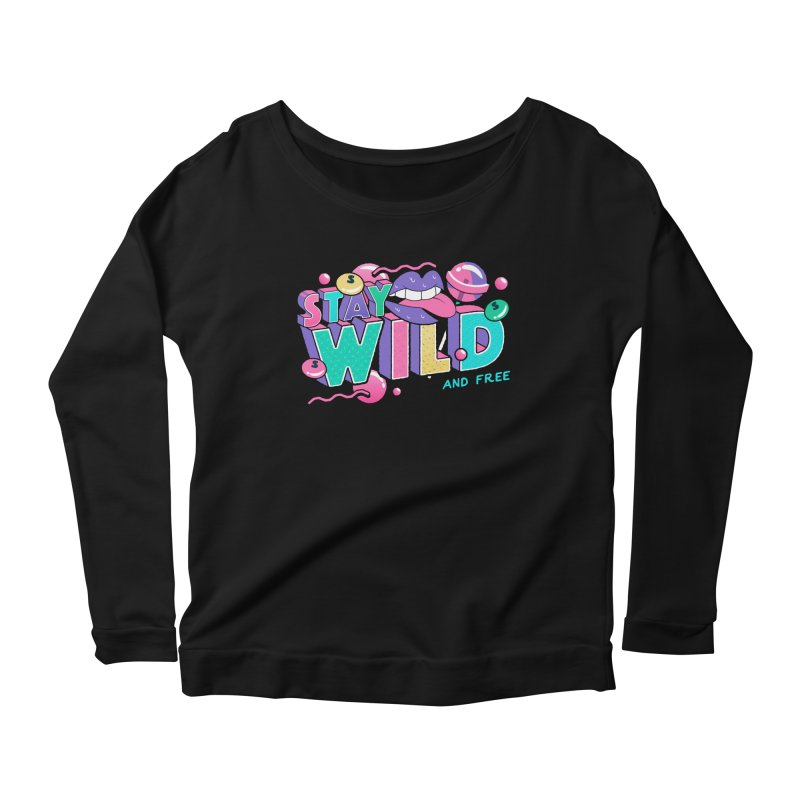 Stay Wild Women's Scoop Neck Longsleeve T-Shirt by Mountain View Co