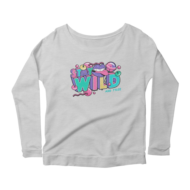 Stay Wild Women's Scoop Neck Longsleeve T-Shirt by Mountain View Co