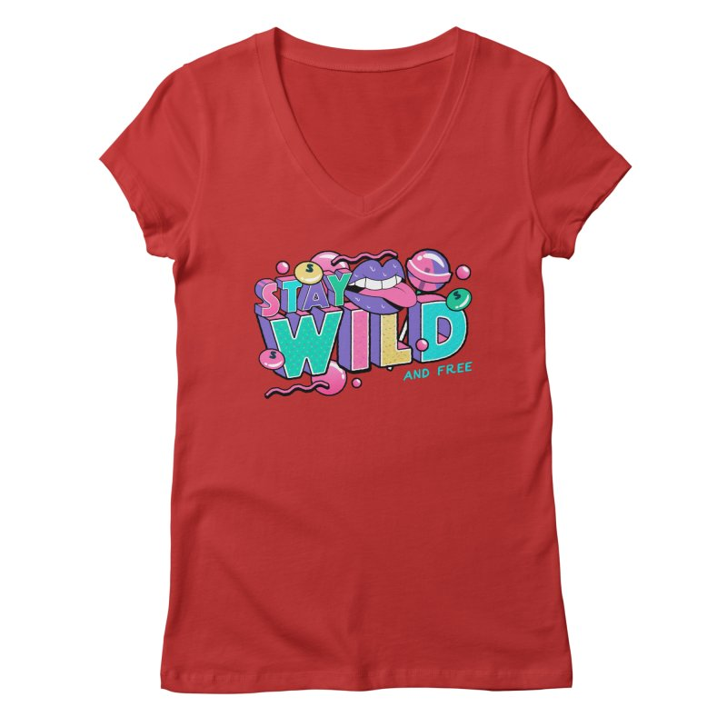 Stay Wild Women's Regular V-Neck by Mountain View Co