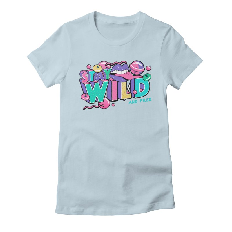 Stay Wild Women's Fitted T-Shirt by Mountain View Co