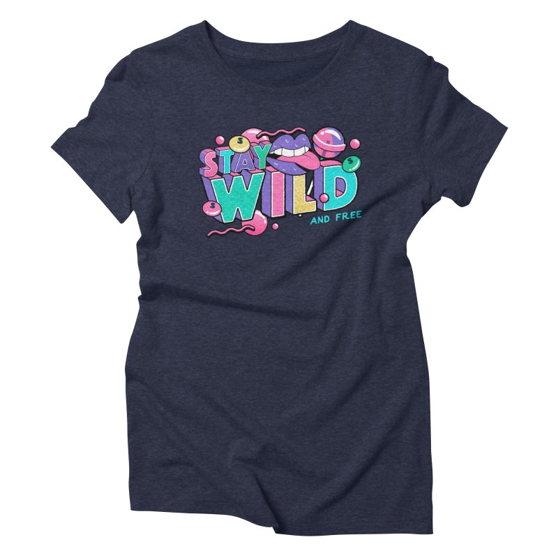 Stay Wild Women's Triblend T-Shirt by Mountain View Co