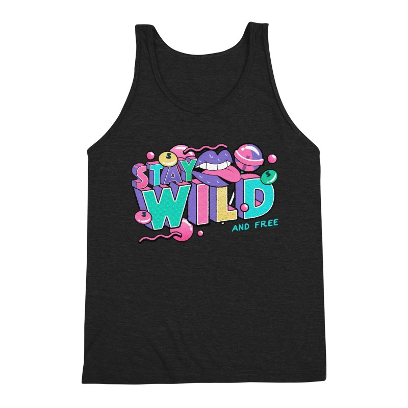 Stay Wild Men's Triblend Tank by Mountain View Co