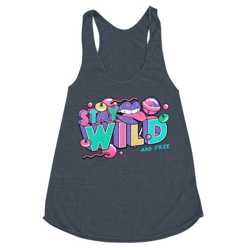 Stay Wild Women's Racerback Triblend Tank by Mountain View Co