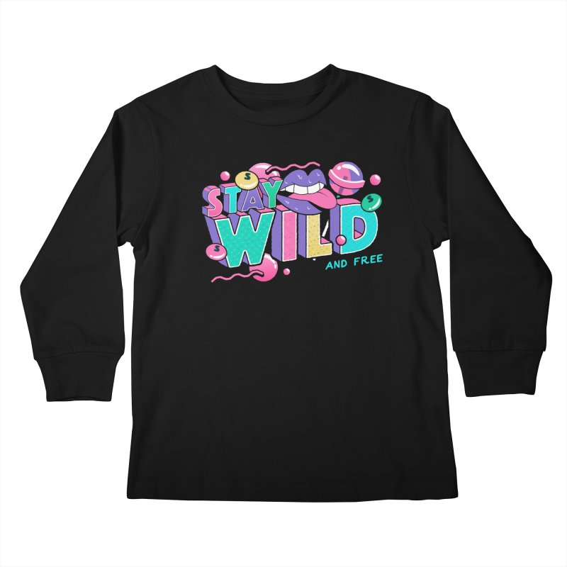 Stay Wild Kids Longsleeve T-Shirt by Mountain View Co