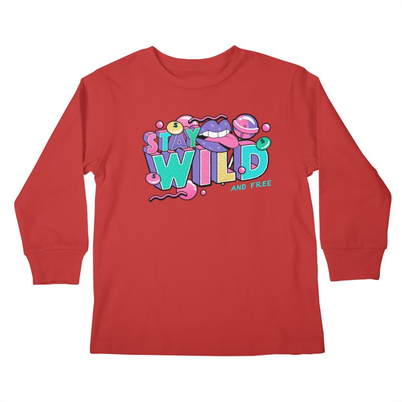 Stay Wild Kids Longsleeve T-Shirt by Mountain View Co