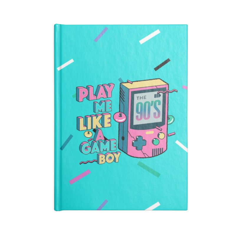 Play Me Like A Game Boy (Threadless Exclusive) Accessories Lined Journal Notebook by Mountain View Co