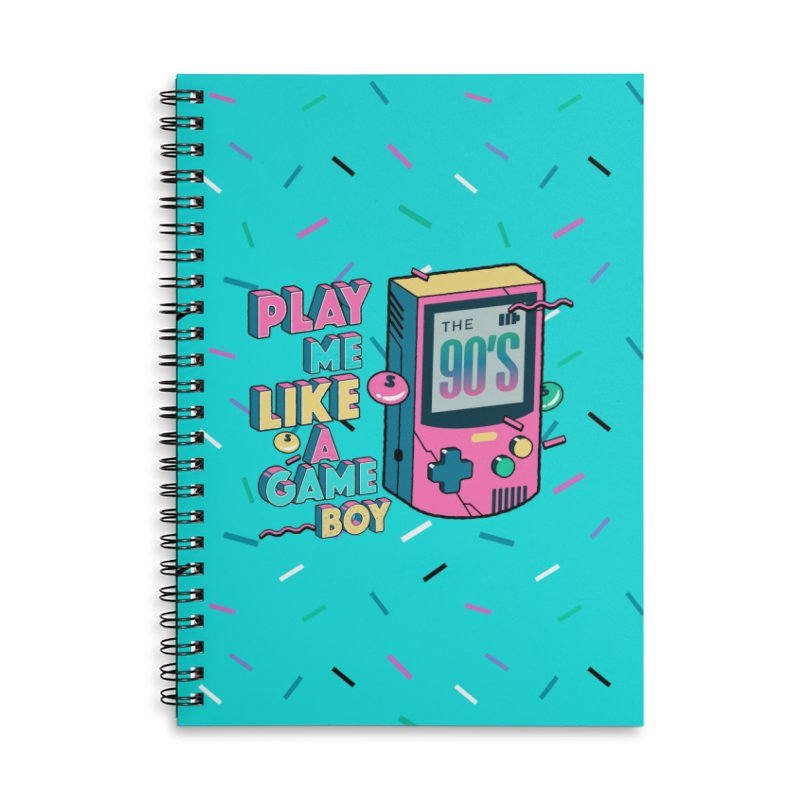 Play Me Like A Game Boy (Threadless Exclusive) Accessories Lined Spiral Notebook by Mountain View Co