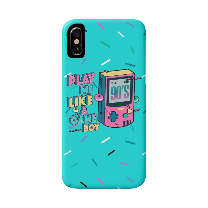 Play Me Like A Game Boy (Threadless Exclusive) Accessories Phone Case by Mountain View Co