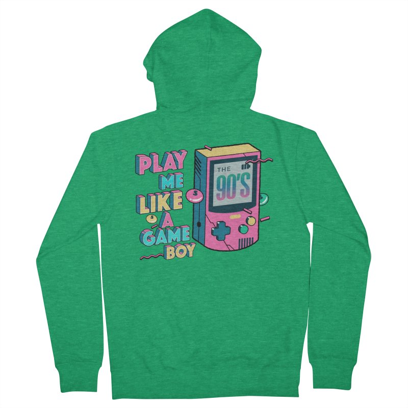 Play Me Like A Game Boy (Threadless Exclusive) Women's Zip-Up Hoody by Mountain View Co