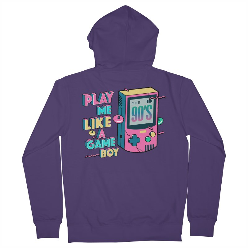 Play Me Like A Game Boy (Threadless Exclusive) Women's French Terry Zip-Up Hoody by Mountain View Co