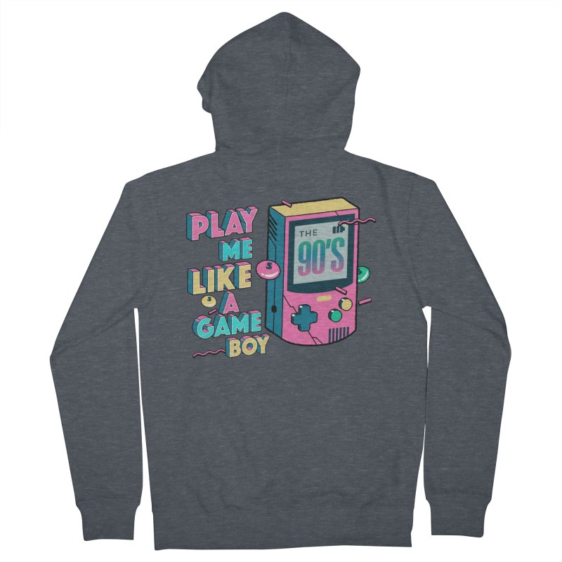Play Me Like A Game Boy (Threadless Exclusive) Men's French Terry Zip-Up Hoody by Mountain View Co