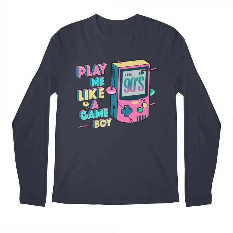 Play Me Like A Game Boy (Threadless Exclusive) Men's Regular Longsleeve T-Shirt by Mountain View Co