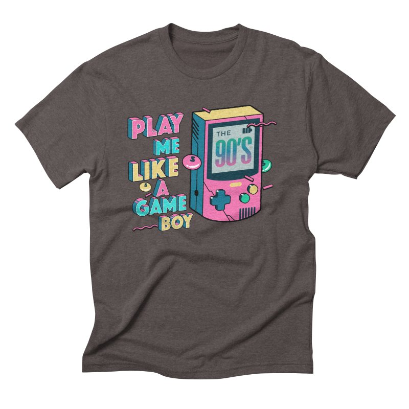 Play Me Like A Game Boy (Threadless Exclusive) Men's Triblend T-Shirt by Mountain View Co