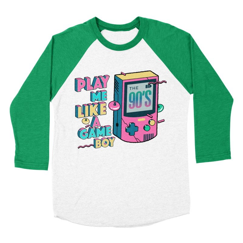 Play Me Like A Game Boy (Threadless Exclusive) Women's Baseball Triblend Longsleeve T-Shirt by Mountain View Co