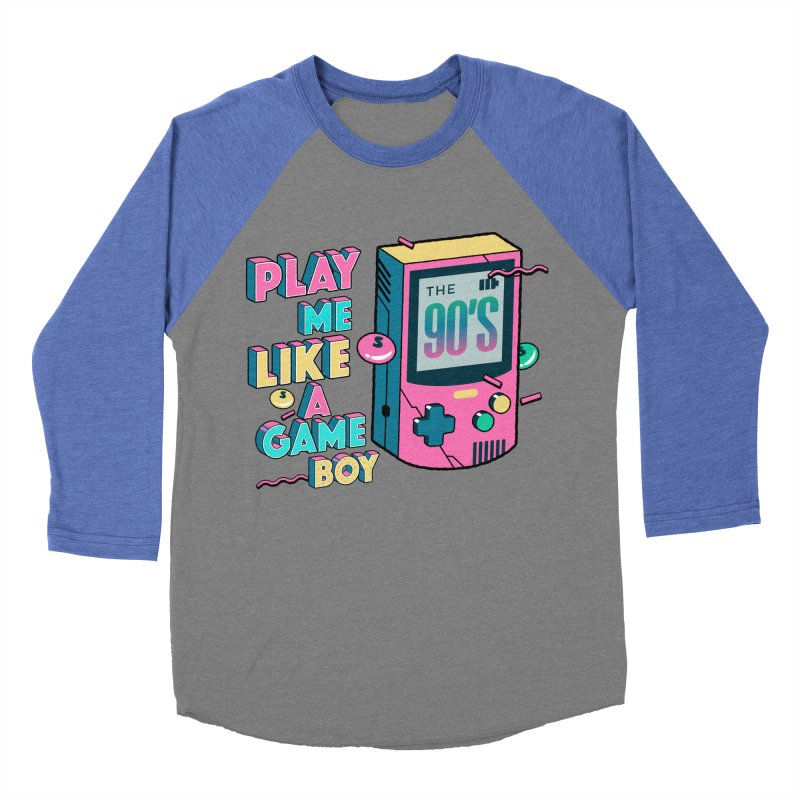 Play Me Like A Game Boy (Threadless Exclusive) Men's Baseball Triblend Longsleeve T-Shirt by Mountain View Co