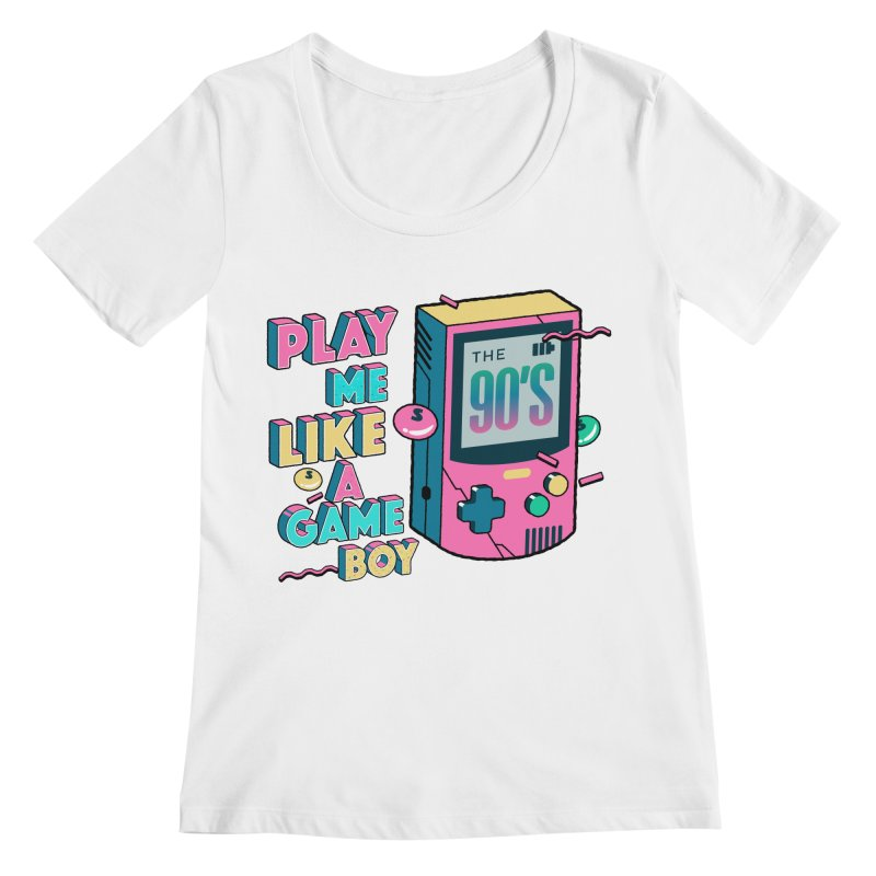 Play Me Like A Game Boy (Threadless Exclusive) Women's Regular Scoop Neck by Mountain View Co