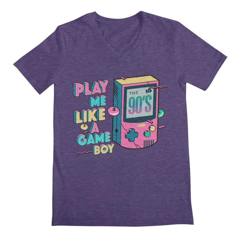 Play Me Like A Game Boy (Threadless Exclusive) Men's Regular V-Neck by Mountain View Co