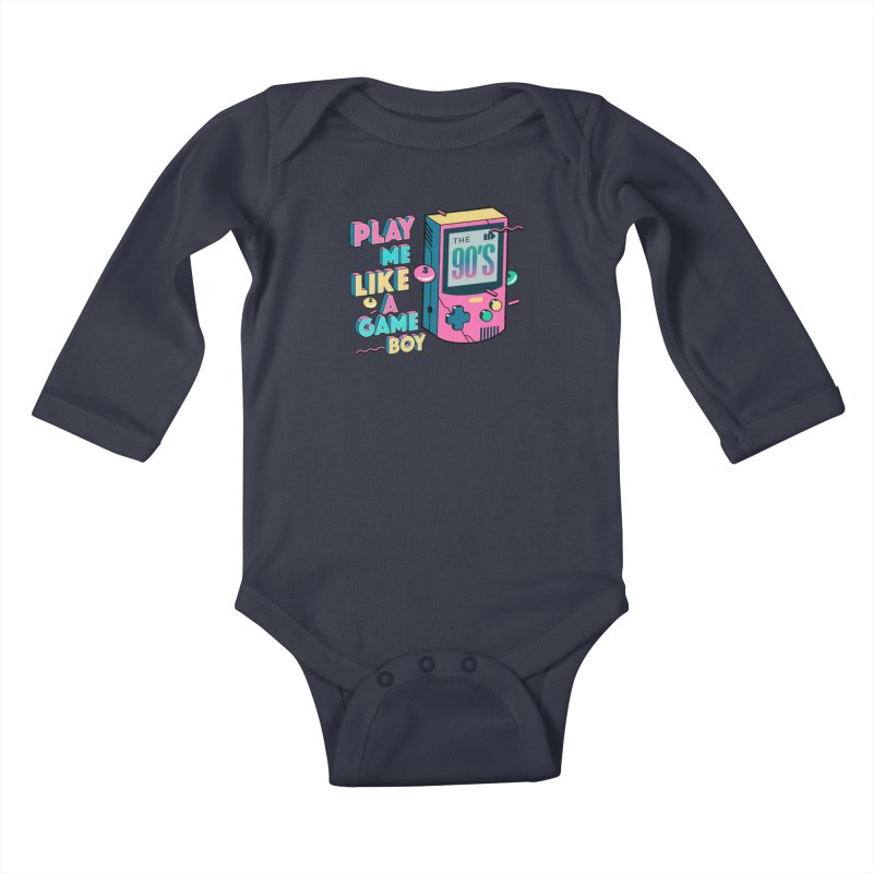 Play Me Like A Game Boy (Threadless Exclusive) Kids Baby Longsleeve Bodysuit by Mountain View Co
