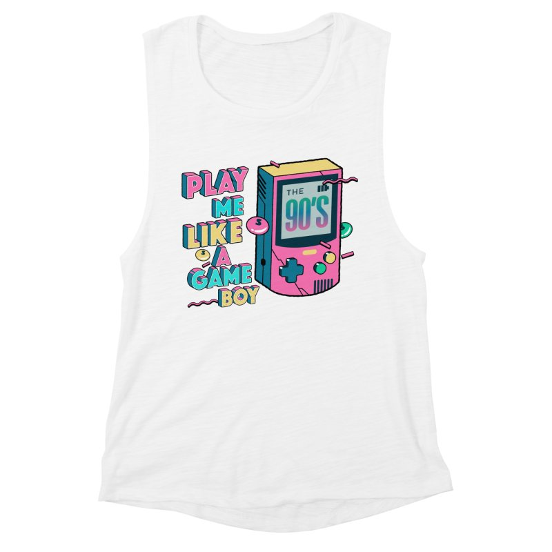 Play Me Like A Game Boy (Threadless Exclusive) Women's Muscle Tank by Mountain View Co