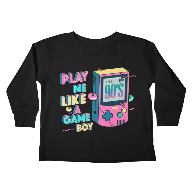 Play Me Like A Game Boy (Threadless Exclusive) Kids Toddler Longsleeve T-Shirt by Mountain View Co