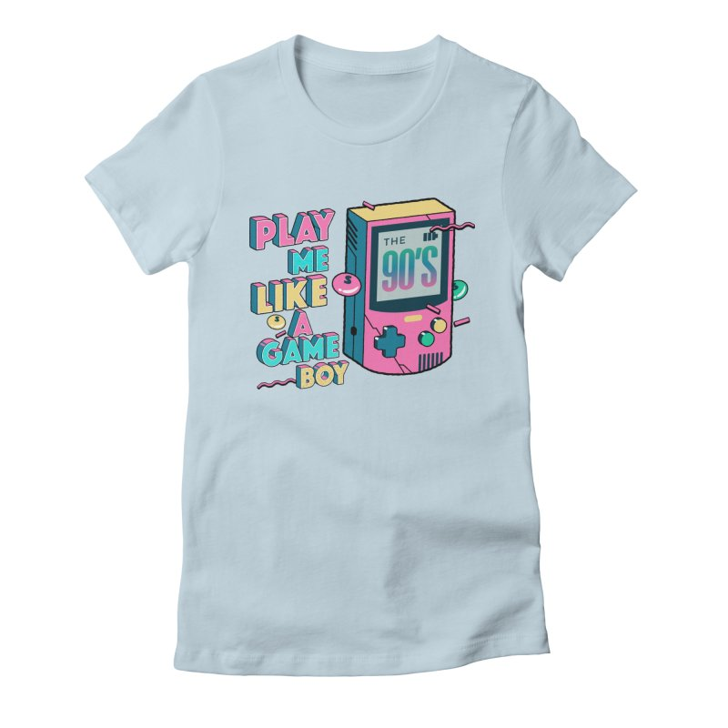 Play Me Like A Game Boy (Threadless Exclusive) Women's Fitted T-Shirt by Mountain View Co
