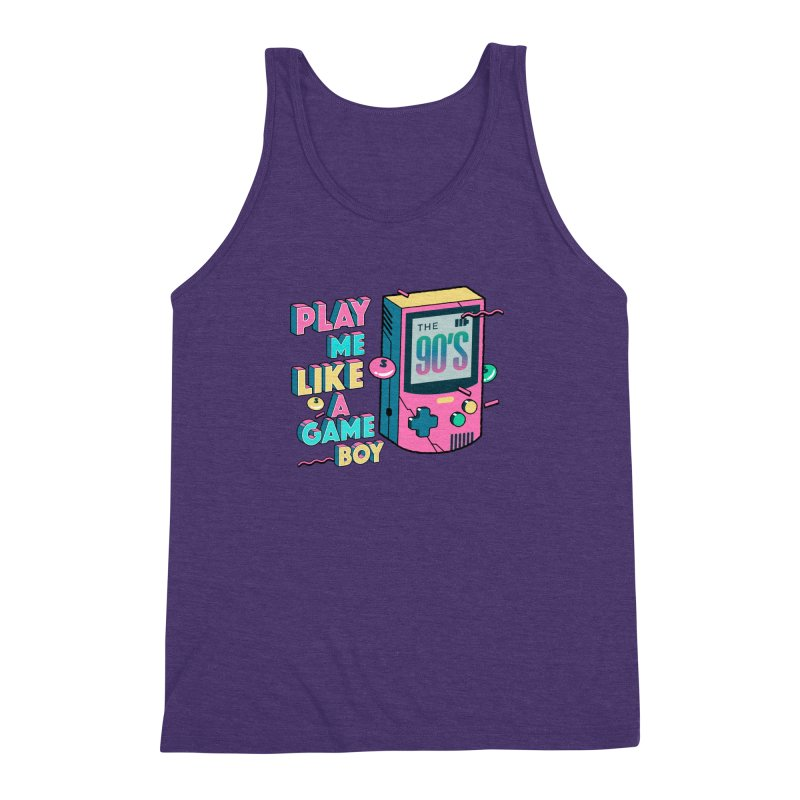 Play Me Like A Game Boy (Threadless Exclusive) Men's Triblend Tank by Mountain View Co