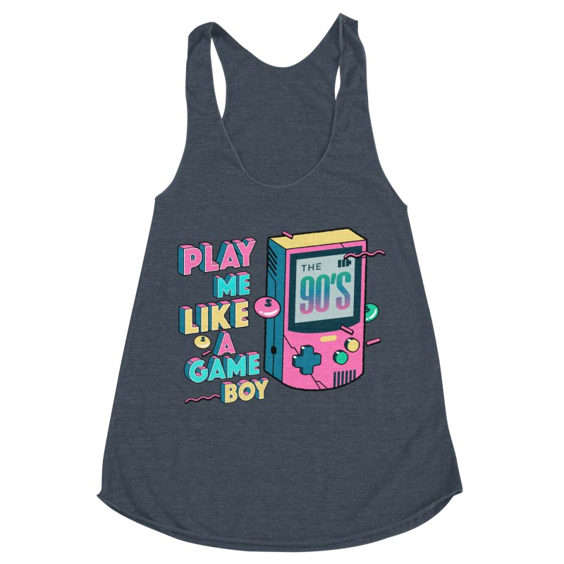 Play Me Like A Game Boy (Threadless Exclusive) Women's Racerback Triblend Tank by Mountain View Co