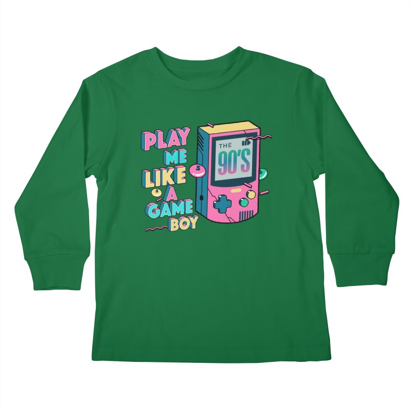 Play Me Like A Game Boy (Threadless Exclusive) Kids Longsleeve T-Shirt by Mountain View Co