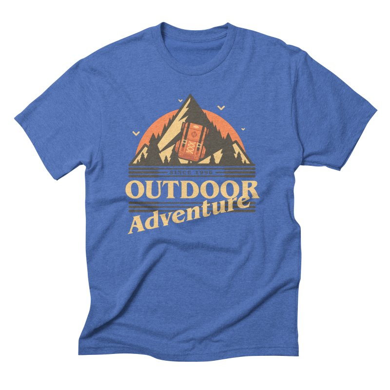 Outdoor Adventure Men's Triblend T-Shirt by Mountain View Co