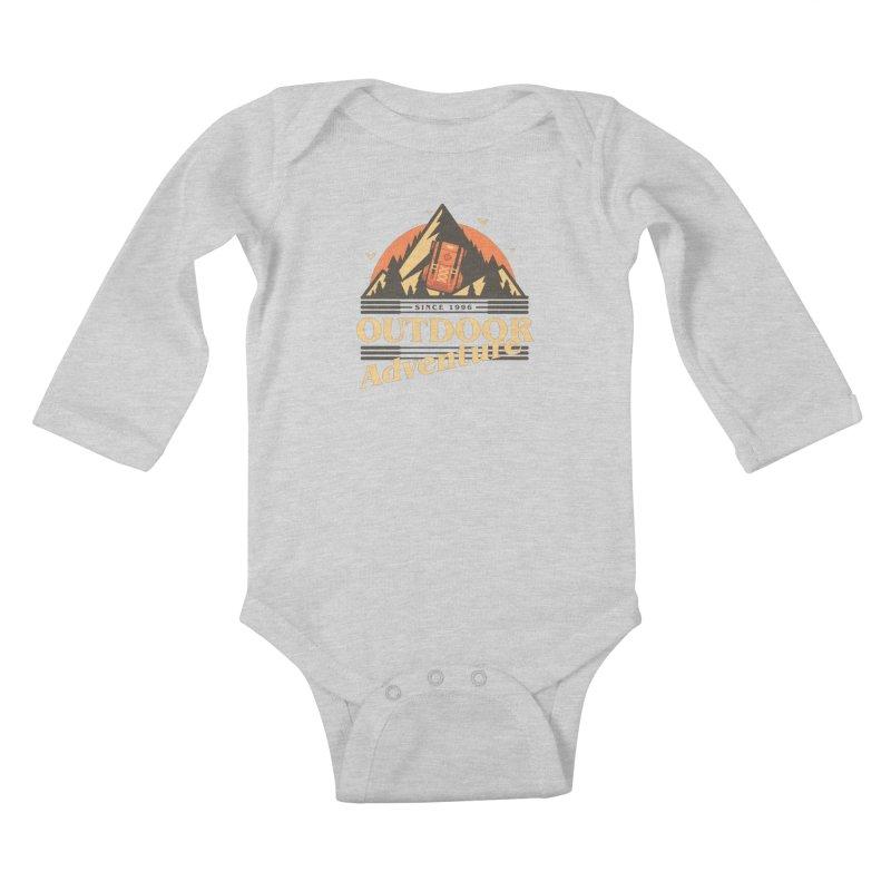 Outdoor Adventure Kids Baby Longsleeve Bodysuit by Mountain View Co