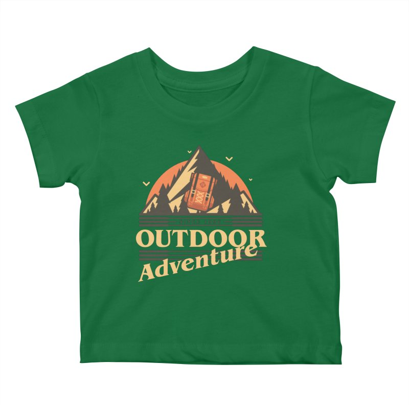 Outdoor Adventure Kids Baby T-Shirt by Mountain View Co