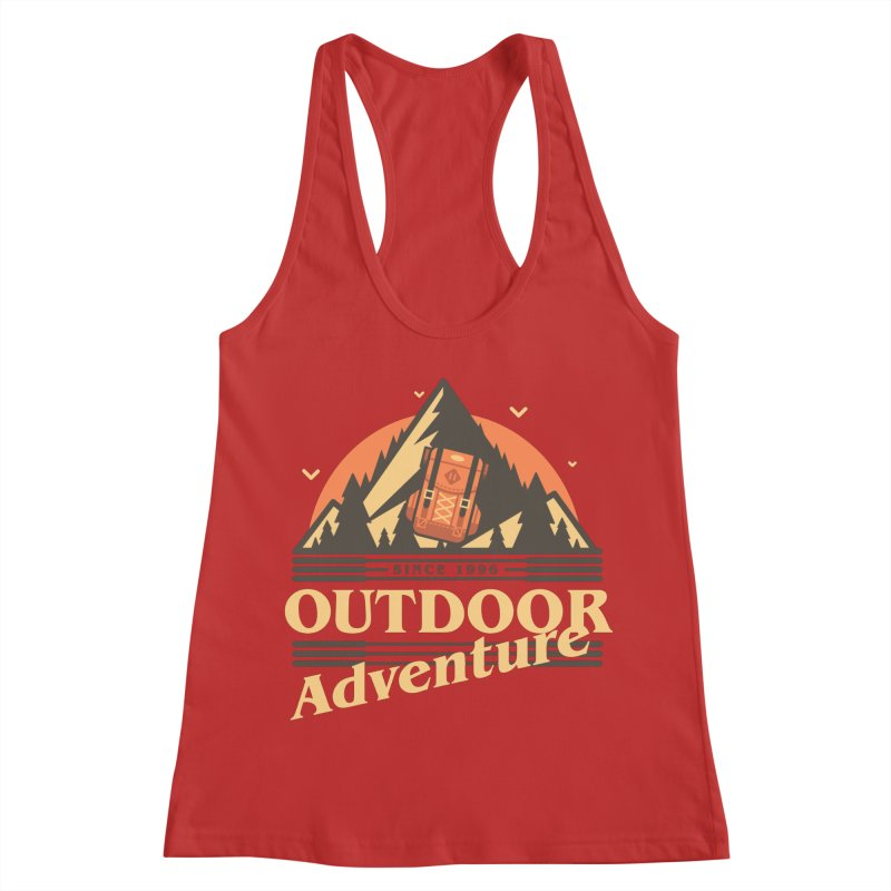 Outdoor Adventure Women's Racerback Tank by Mountain View Co