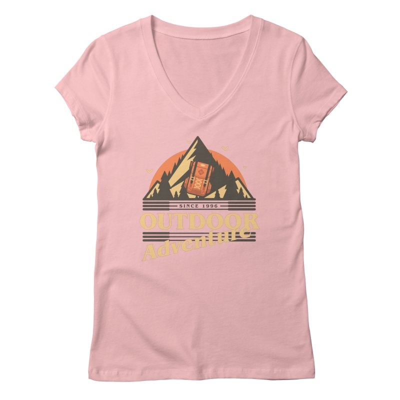 Outdoor Adventure Women's Regular V-Neck by Mountain View Co
