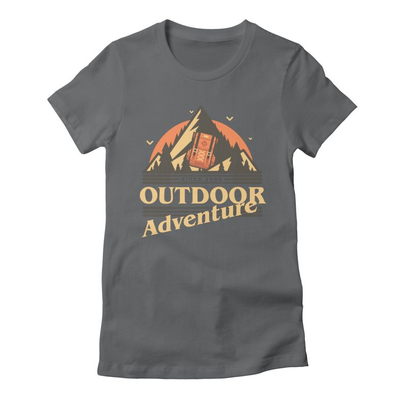 Outdoor Adventure Women's Fitted T-Shirt by Mountain View Co