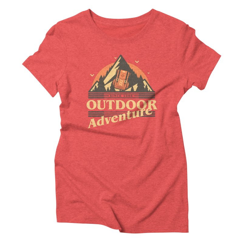Outdoor Adventure Women's Triblend T-Shirt by Mountain View Co