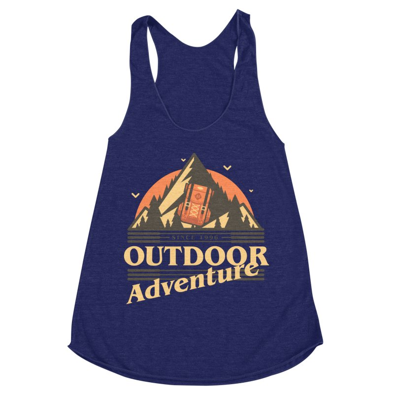 Outdoor Adventure Women's Racerback Triblend Tank by Mountain View Co