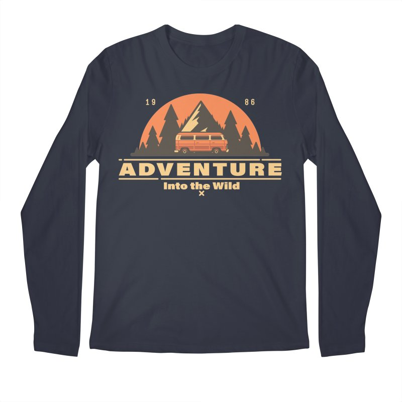 Adventure into the Wild Men's Regular Longsleeve T-Shirt by Mountain View Co