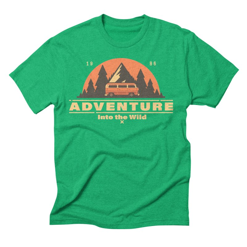 Adventure into the Wild Men's Triblend T-Shirt by Mountain View Co