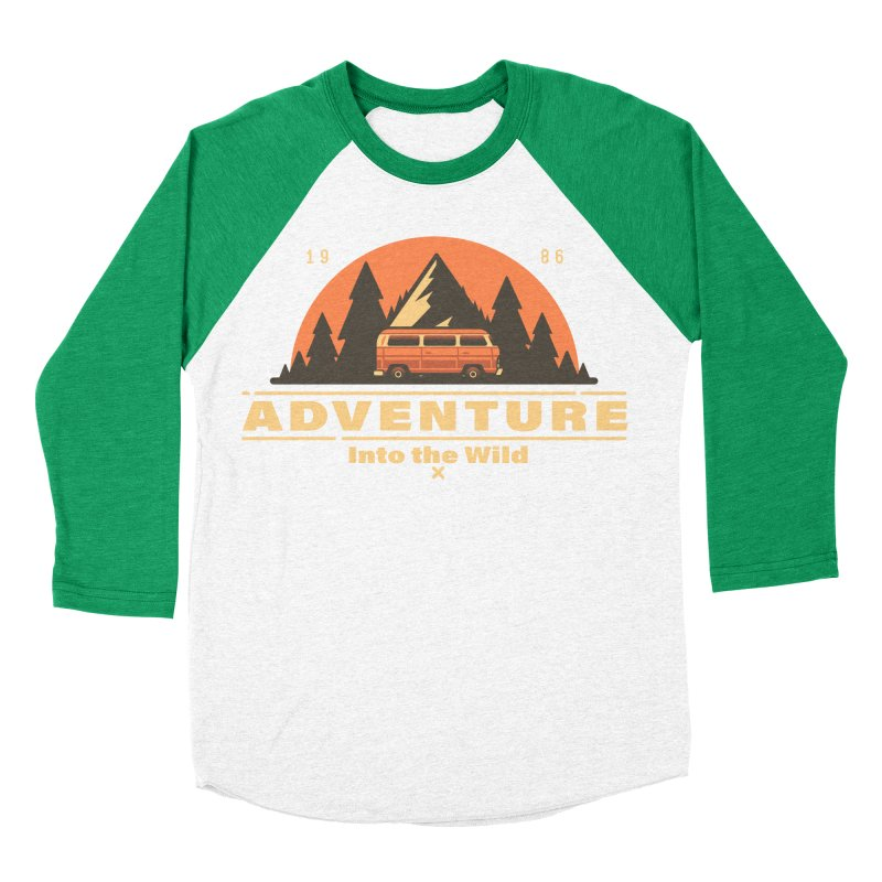 Adventure into the Wild Men's Baseball Triblend Longsleeve T-Shirt by Mountain View Co
