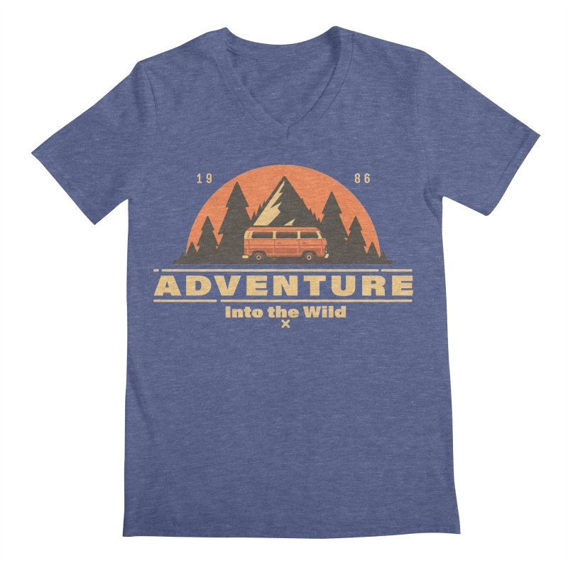 Adventure into the Wild Men's Regular V-Neck by Mountain View Co