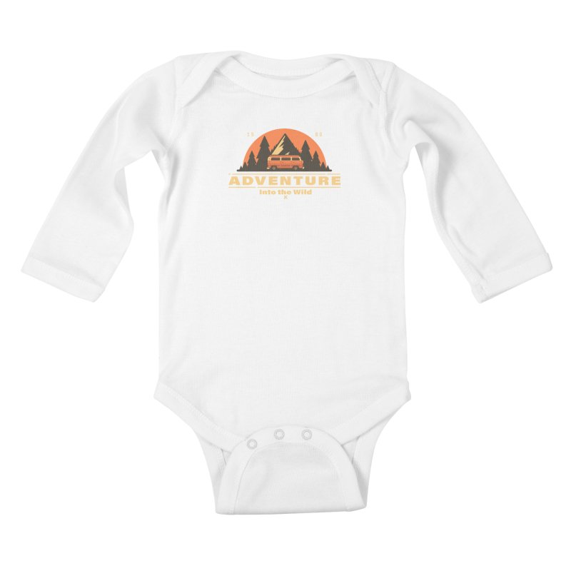 Adventure into the Wild Kids Baby Longsleeve Bodysuit by Mountain View Co