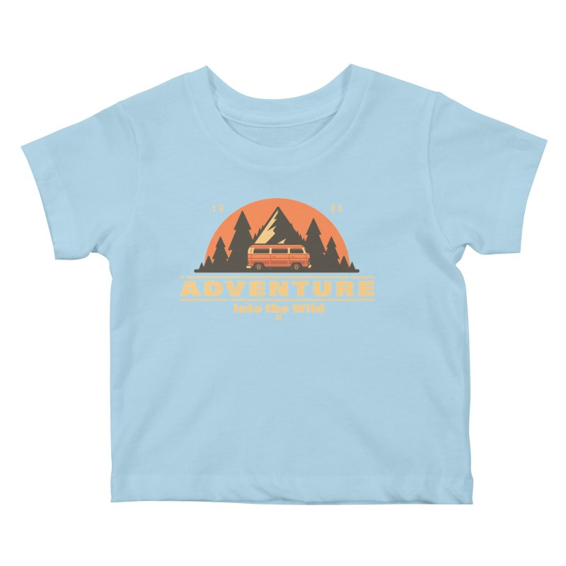 Adventure into the Wild Kids Baby T-Shirt by Mountain View Co