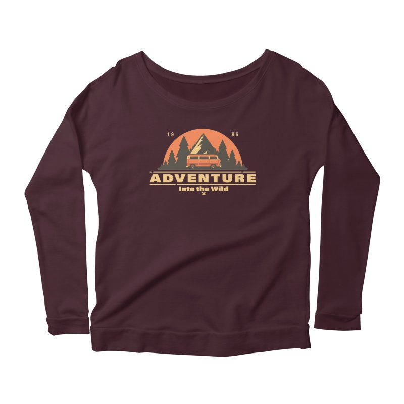 Adventure into the Wild Women's Scoop Neck Longsleeve T-Shirt by Mountain View Co