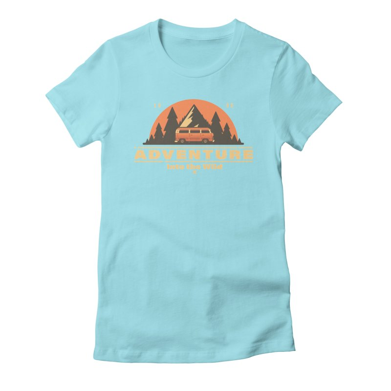 Adventure into the Wild Women's Fitted T-Shirt by Mountain View Co