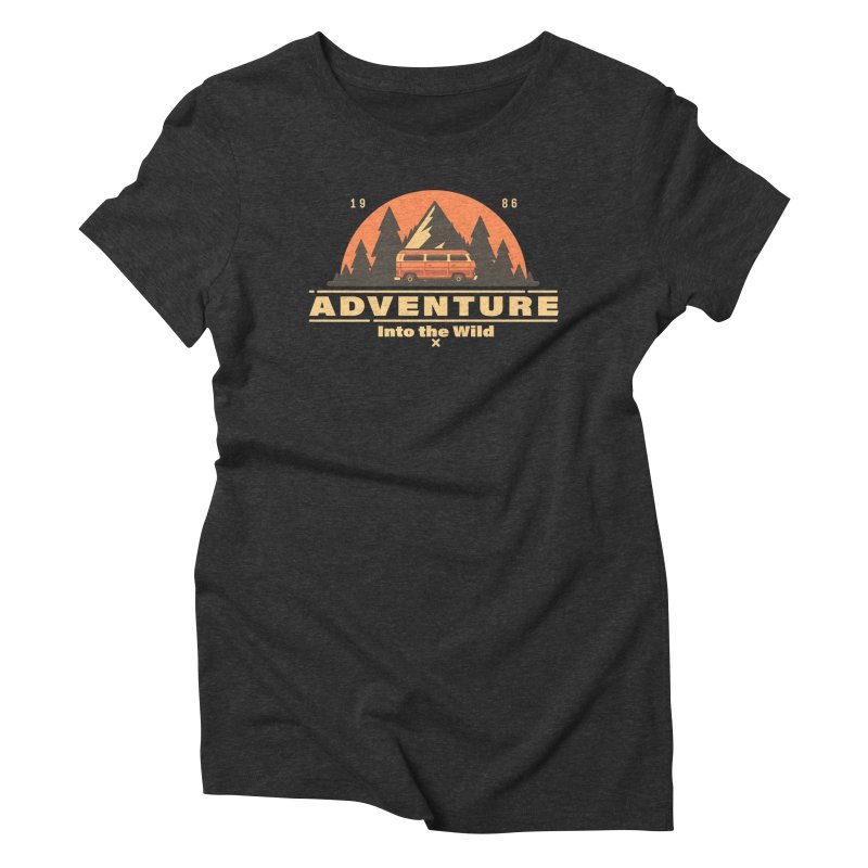 Adventure into the Wild Women's Triblend T-Shirt by Mountain View Co