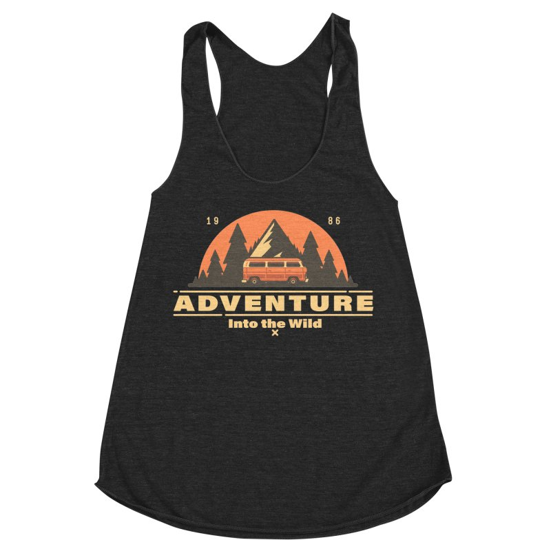 Adventure into the Wild Women's Racerback Triblend Tank by Mountain View Co