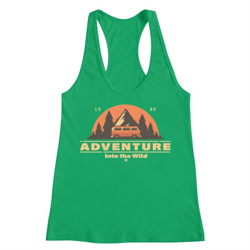Adventure into the Wild Women's Racerback Tank by Mountain View Co