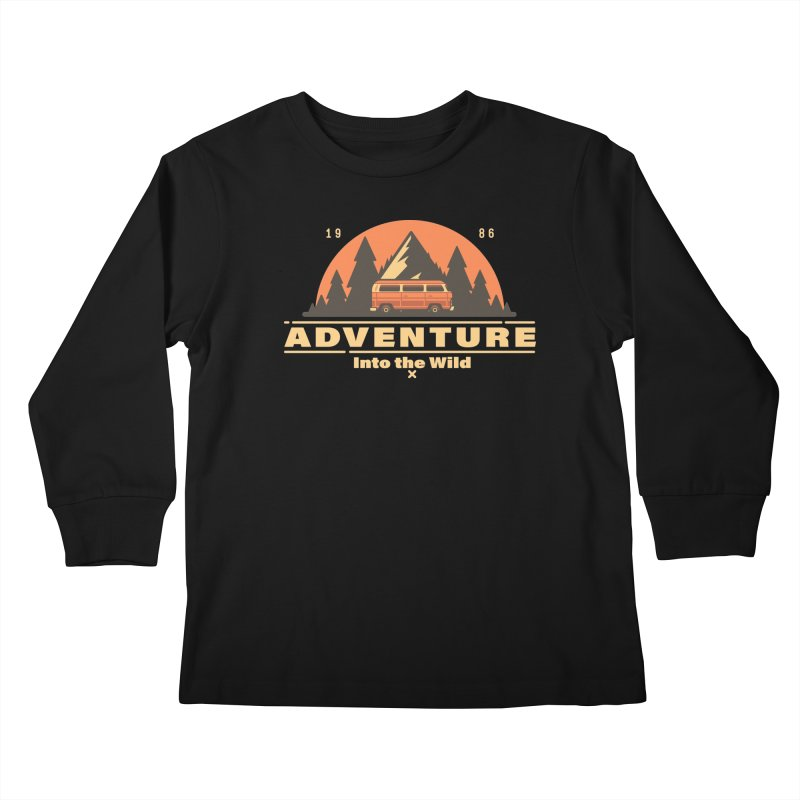 Adventure into the Wild Kids Longsleeve T-Shirt by Mountain View Co
