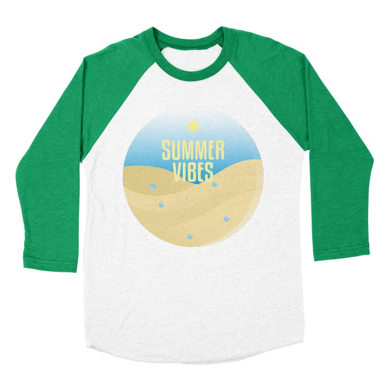 Summer Vibes Women's Baseball Triblend Longsleeve T-Shirt by Mountain View Co